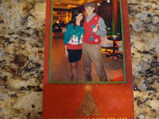 Christmas Card of Woman and Man