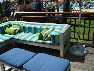 Outdoor seating at hotel