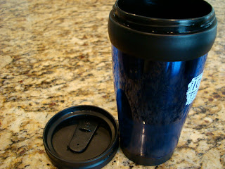 Re-Useable Coffee Mug with lid off on countertop