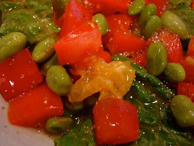 Salad with Orange Coconut Lemon Pepper Vinaigrette