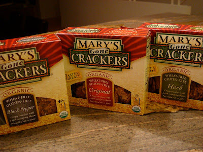 Three boxes of Mary's Gone Crackers