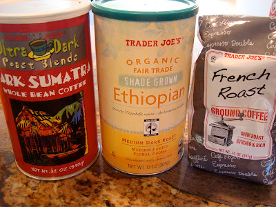 Various Coffees on countertop