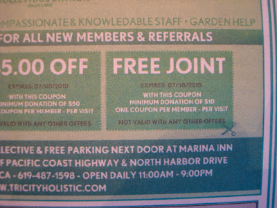 Coupon for Free join for Medical Marijuana
