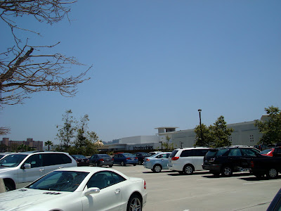 Parked cars at mall