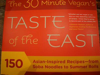 Close up of cover of The 30 Minute Vegan's Taste of the East book