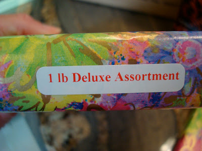 Package saying 1 Lb Deluxe Assortment