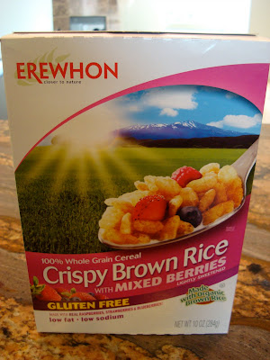 Box of Erewhon Crispy Brown Rice with Mixed Berries Cereal