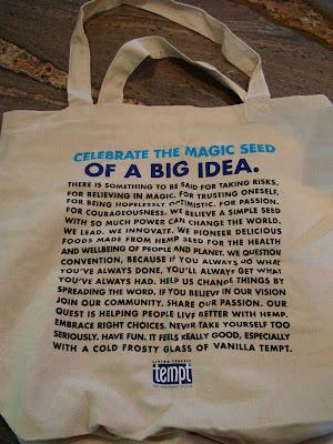 Hemp Bag with statement on back