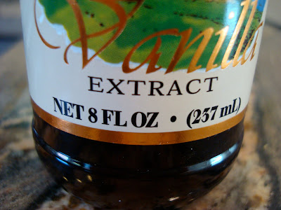 Bottle of extract showing 8 fl oz