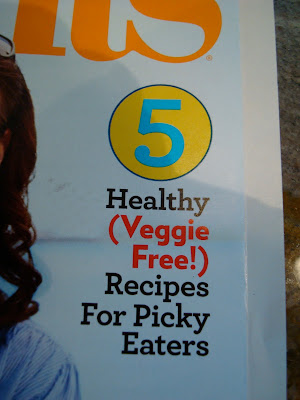 Article in magazine titled 5 Healthy (Veggie Free) Recipes for Picky Eaters