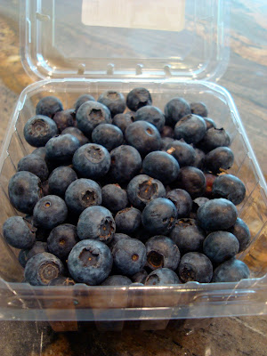 Open container of Blueberries