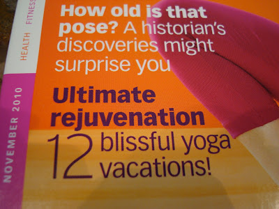 Articles on front of Yoga Journal