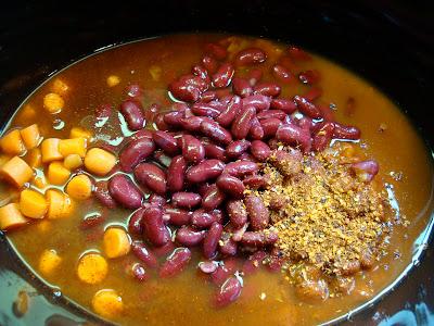 Ingredients for Vegan Crock Pot Chili in Crock Pot