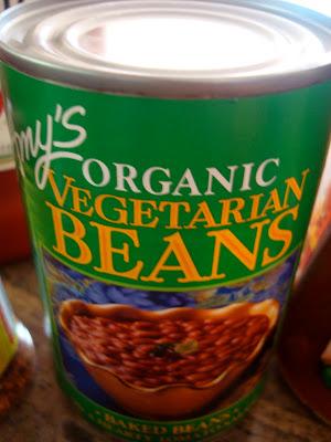 Can of Organic Vegetarian Beans