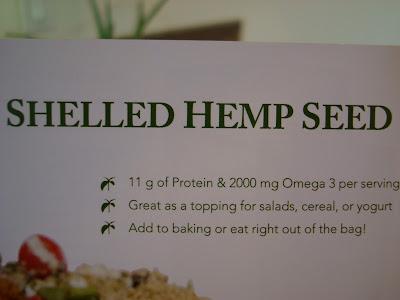 Shelled Hemp Seed info card