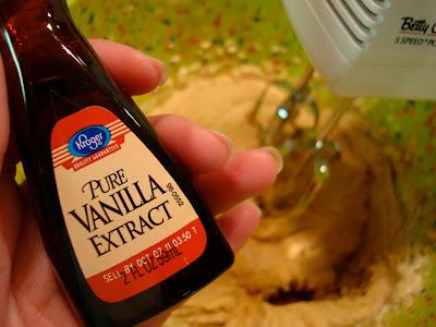 Hand holding Vanilla Extract