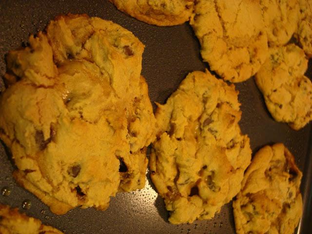 Row of cookies on baking sheet