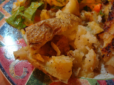 Close up of potatoes on plate
