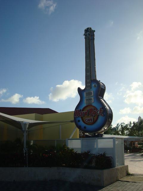 Hard Rock Cafe guitar sign