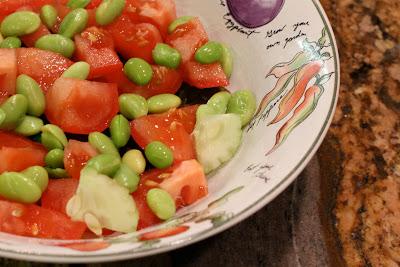 Vegan Slaw Dressing over Edamame Salad