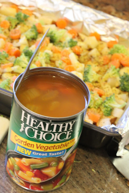 Can of Garden Vegetable Soup