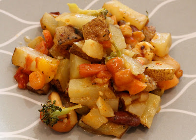 Plated Cheezy Vegetable Bake