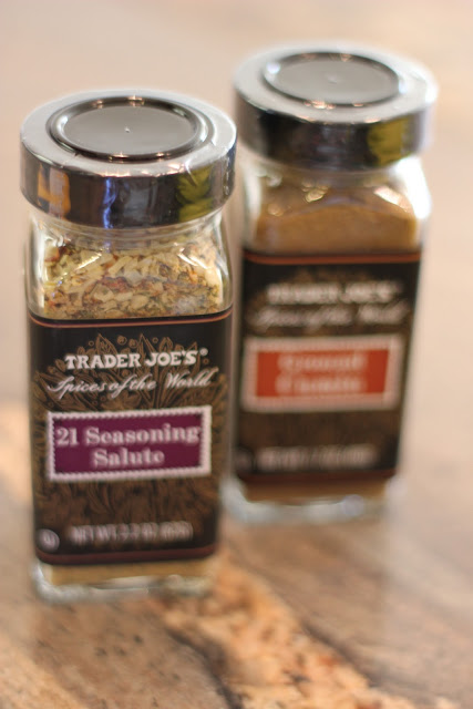Two bottles of Trader Joes Spices