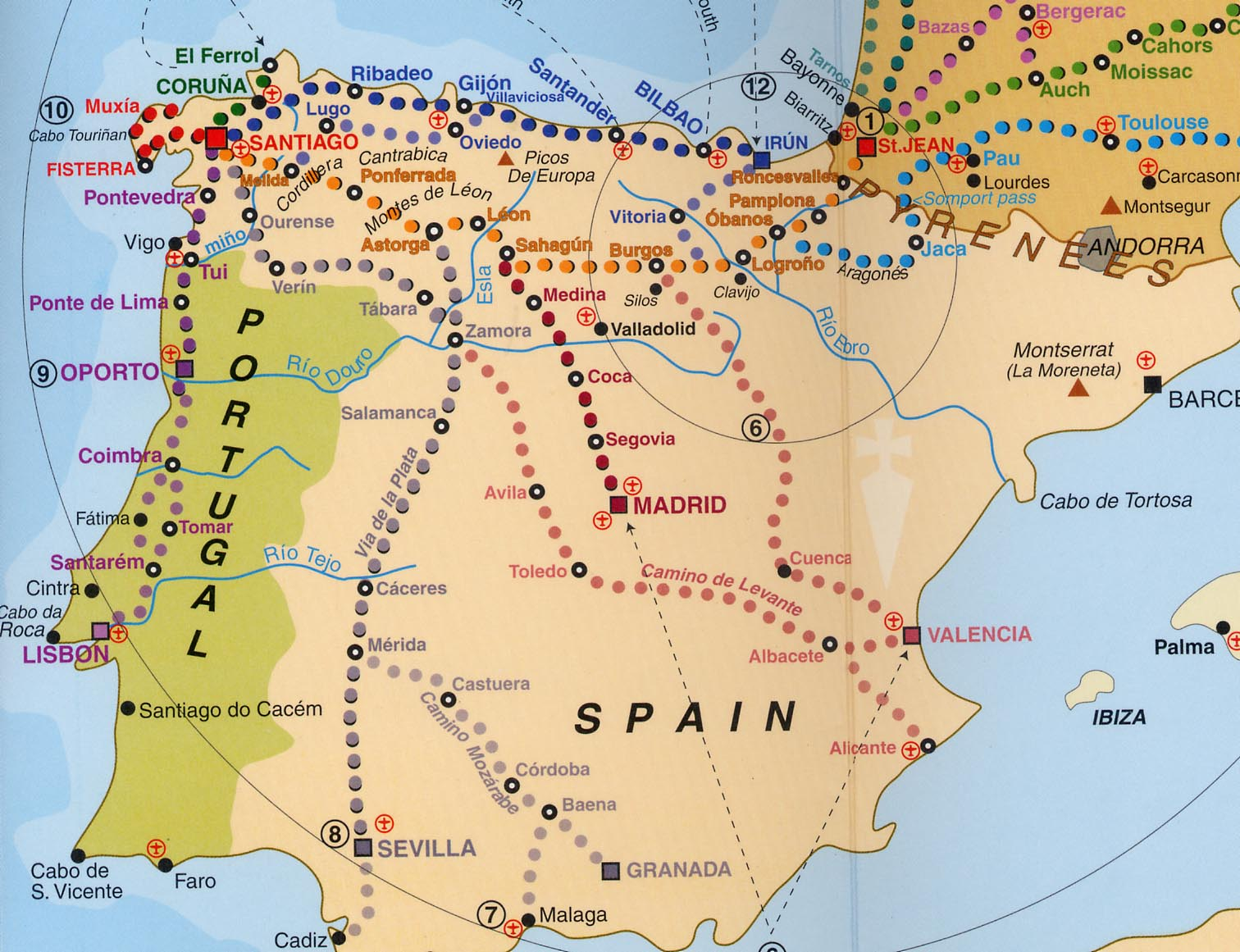 Johns Camino Route Maps - Portugal norte map