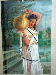 woman carrying a water jug
