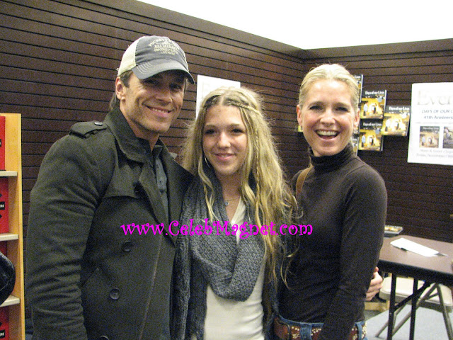 Scott, Melissa and Emily Reeves arrive at Days of Our Lives book signing cast party