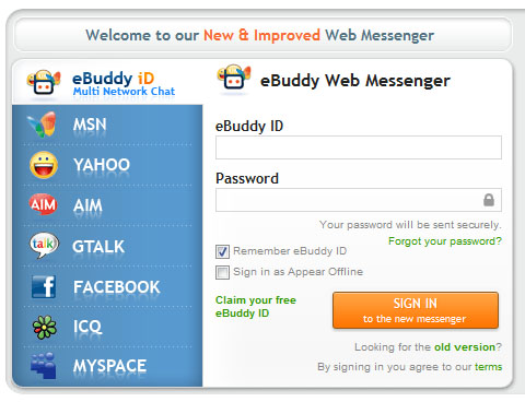 ebuddy sign in