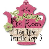 "My Flower Glass made TOP 3 at ""The Shabby Tea Room"""