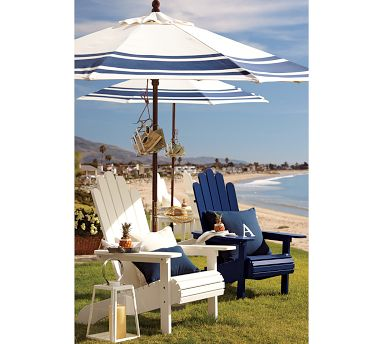 Striped Patio Umbrella Shade for Coral Coast Umbrellas - Patio