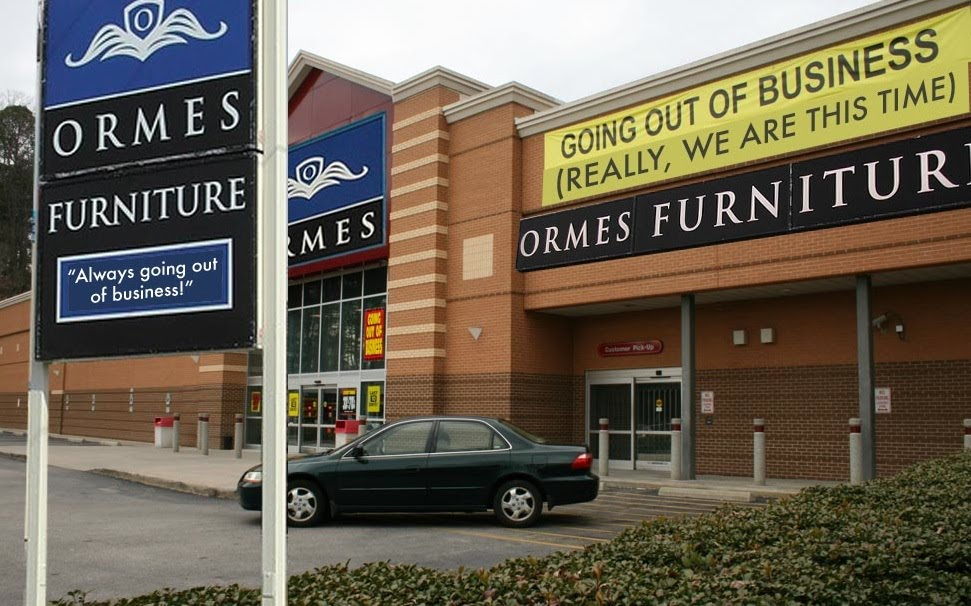 The o dot ormes furniture still attempting to go out of