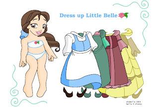 Juego de vestir a La Bella y la Bestia