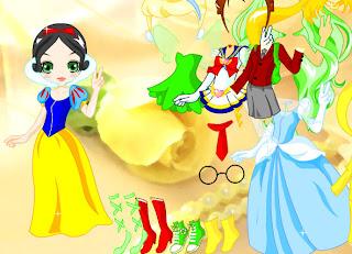 Juego de vestir a la muñeca de princesas Disney