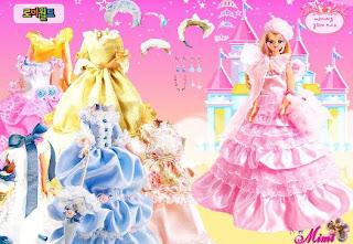 Vestir a la muñeca princesa Mimi
