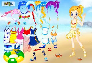 Vestir a la muñeca Kelly para la playa