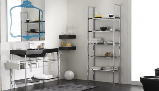Interior Design  Home Decoration: Beautiful Black and White Bathroom ...