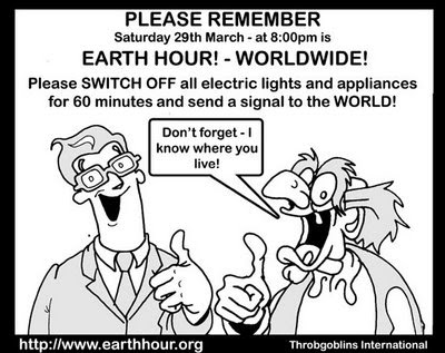Frank and Ern Cartoon Earth Hour