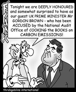 Cantankerous Frank and Gordon Brown cartoon panel