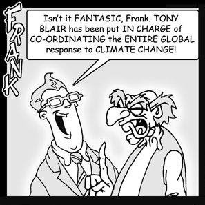 Tony Blair Global Warming Envoy cartoon strip