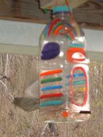 juice bottle birdhouse
