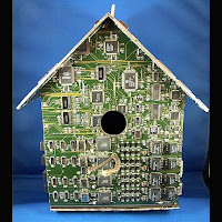 circuit-board birdhouse