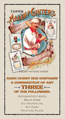 2009 Topps Allen Ginter Sell Sheets Are Live
