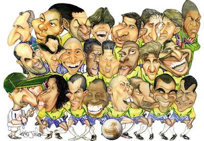 Seleção brasileira em caricatura