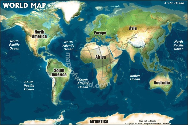 World Relief And Fault Lines Of Earth - World fault lines