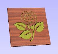 rose dxf, flower dxf