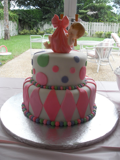 Girl's Baby Shower Cake