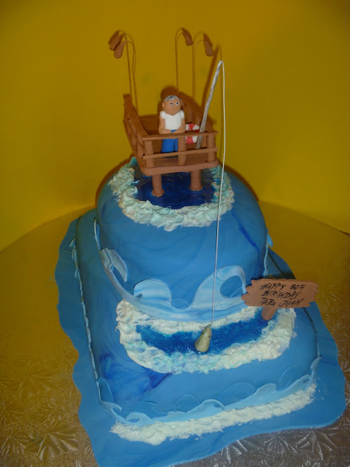 Juan's Fishing Dock 80th Birthday Cake